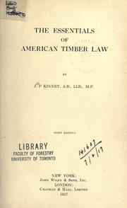 Cover of: The essentials of American timber law