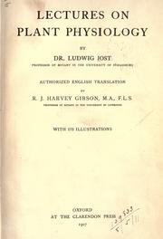 Cover of: Lectures on plant physiology