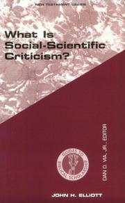 Cover of: What is social-scientific criticism?