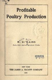 Cover of: Profitable poultry production