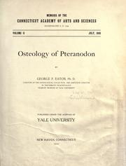 Cover of: Osteology of pteranodon