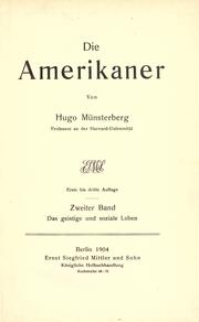 Cover of: Die Amerikaner