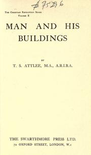Cover of: Man and his buildings