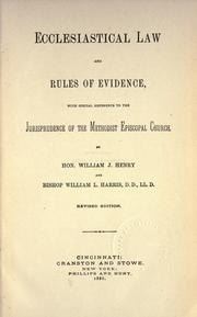 Cover of: Ecclesiastical law and rules of evidence