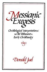 Cover of: Messianic exegesis