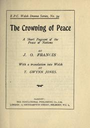 Cover of: The crowning of peace