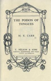 Cover of: The poison of tongues