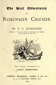 Cover of: The real adventures of Robinson Crusoe--