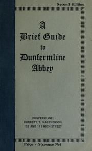 Cover of: A brief guide to Dunfermline Abbey