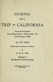 Cover of: Journal of a trip to California