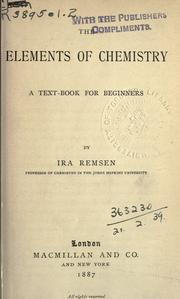 Cover of: The elements of chemistry, a textbook for beginners