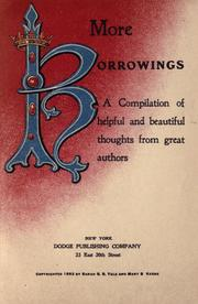 Cover of: More borrowings