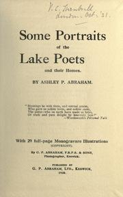 Some portraits of the Lake Poets and their homes by Ashley Perry Abraham