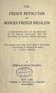 Cover of: The French revolution and modern French socialism