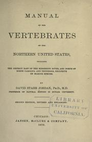 Cover of: Manual of the vertebrates of the northern United States, including the district east of the Mississippi River, and north of North Carolina and Tennessee, exclusive of marine species