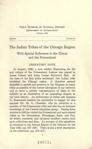 Cover of: The Indian tribes of the Chicago region