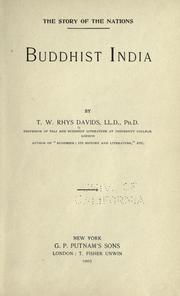 Buddhist India by Thomas William Rhys Davids