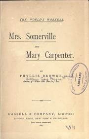 Cover of: Mrs. Somerville and Mary Carpenter