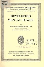 Cover of: Developing mental power