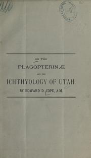 Cover of: On the Plagopterinae and the ichthyology of Utah