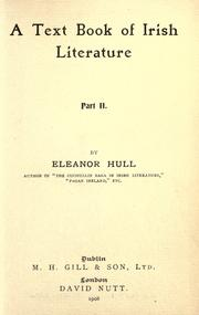 A text book of Irish literature by Eleanor Hull