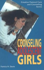 Cover of: Counseling adolescent girls