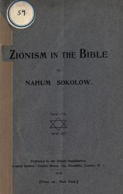 Cover of: Zionism in the Bible