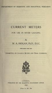 Cover of: Current meters for use in river gauging