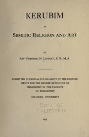 Cover of: Kerubim in semitic religion and art