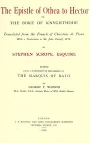 Cover of: The epistle of Othea to Hector