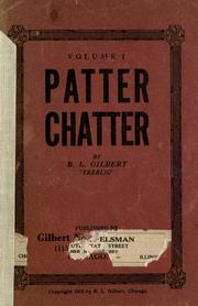 Cover of: Patter chatter