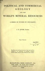 Cover of: Political and commercial geology and the world's mineral resources