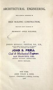 Cover of: Architectural engineering