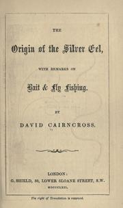 Cover of: The origin of the silver eel