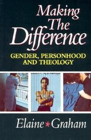 Cover of: Making the Difference: Gender, Personhood, and Theology