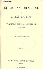 Cover of: Storms and sunshine of a soldier's life
