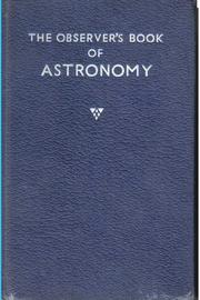 Cover of: The observer's book of astronomy