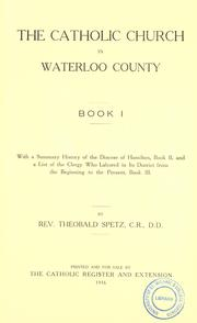 Cover of: The Catholic Church in Waterloo County