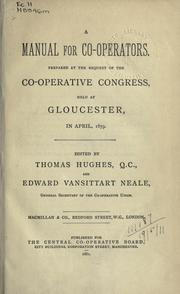 Cover of: A manual for co-operators