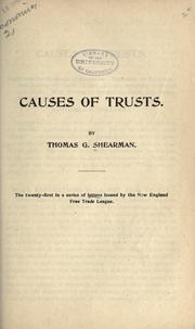 Cover of: Causes of trusts