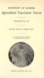 Cover of: Black spot of onion sets