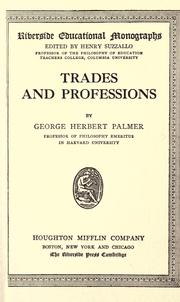 Cover of: Trades and professions