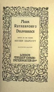 Cover of: Mark Rutherford's deliverance
