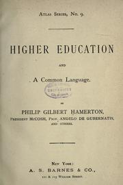 Cover of: Higher education and a common language