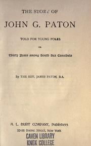 Cover of: The story of John G. Paton