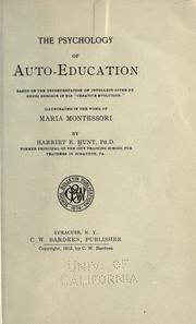 Cover of: The psychology of auto-education