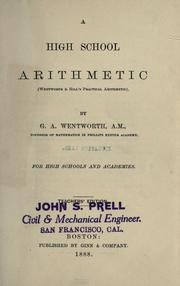 Cover of: A high school arithmetic