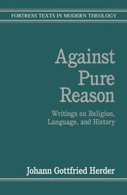 Cover of: Against Pure Reason: writings on religion, language, and history