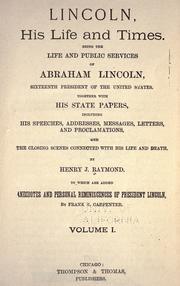 Cover of: Lincoln, his life and time