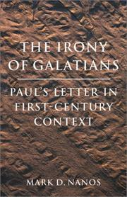 Cover of: The Irony of Galatians | Mark, D. Nanos